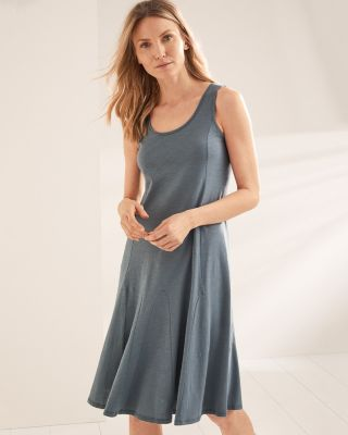 Easy Knit Organic-Cotton Godet Dress