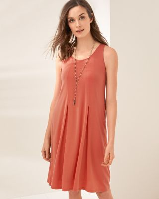 Pleat-Detail Knit Tank Dress