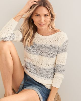 Boxy Boatneck Organic-Cotton Sweater