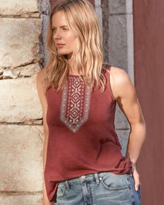 Boho Embroidered Tank
