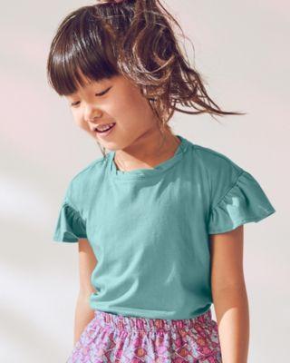 Girls' Ruffle-Sleeve Knit Top