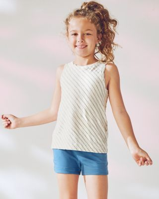 Girls' Slub-Knit Striped Tank