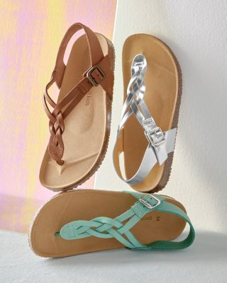 Kids' Braided Thong Sandals