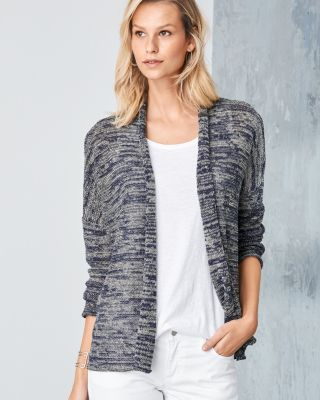 EILEEN FISHER Organic-Linen Boxy Cardigan Sweater