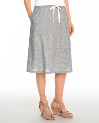 EILEEN FISHER Hemp & Organic-Cotton Skirt Petite