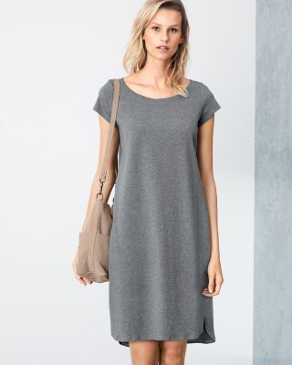 EILEEN FISHER Organic-Cotton T-Shirt Dress Petite