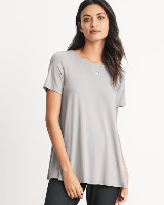 EILEEN FISHER Viscose-Jersey Short-Sleeve Tee Petite