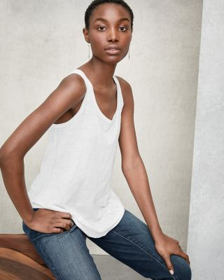 EILEEN FISHER Organic-Cotton Scoop-Neck Tank Top