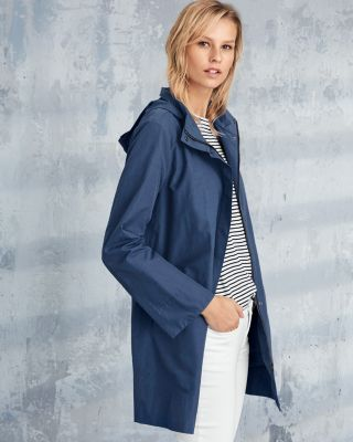 EILEEN FISHER Organic-Cotton and Nylon A-Line Jacket