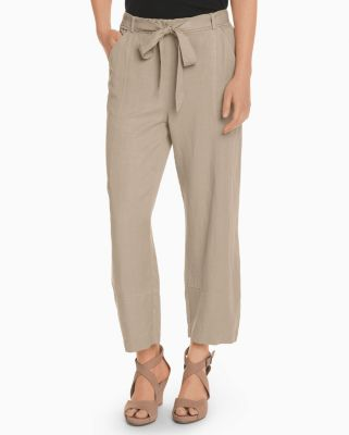 EILEEN FISHER TENCEL and Linen Lantern Ankle Pants