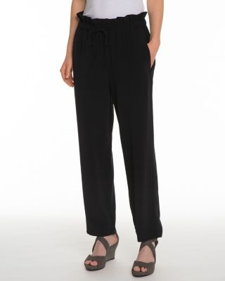EILEEN FISHER TENCEL and Viscose Crepe Ankle Pants