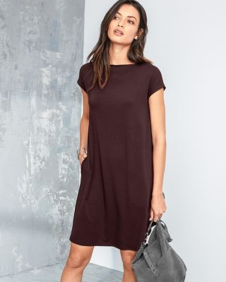 EILEEN FISHER Viscose-Jersey Knot-Detail Dress