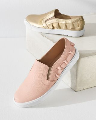 Elephantito Kids' Ruffle Slip-On Sneakers