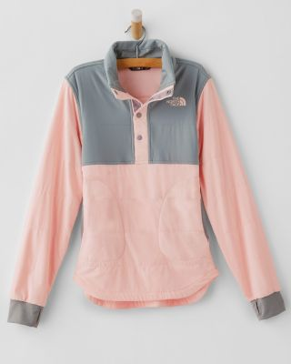The North Face Girls' Mountain Sweatshirt Quarter-Snap Jacket