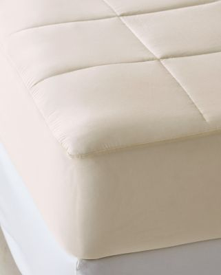 Quilted Organic-Cotton Mattress Pad