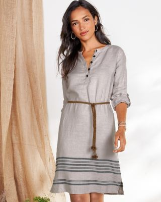 Linen Belted Shirtdress By Garnet Hill