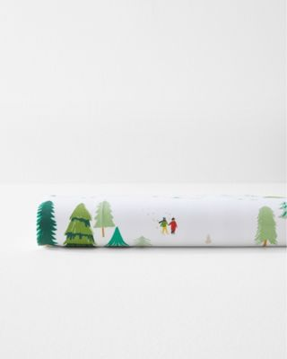 Winter Woods Organic-Cotton Percale Sheets