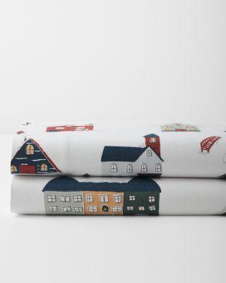 Holiday Village Flannel Duvet Cover
