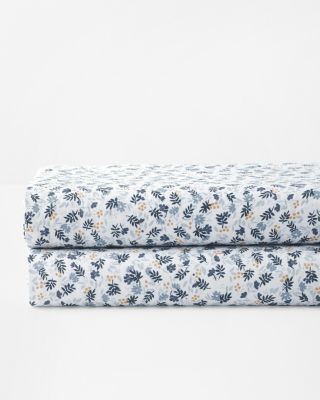 Ditsy Floral Relaxed-Linen Duvet Cover