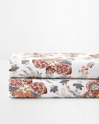 Wrinkle-Resistant Jardin Floral Cotton Sateen Sheets