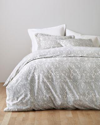 Wrinkle-Resistant Parisian Paisley Sateen Duvet Cover