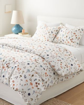 Mushroom Organic-Cotton Percale Duvet Cover