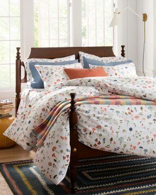 Mushroom Organic-Cotton Percale Duvet Cover