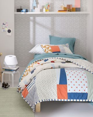 Kids' Tumbled Blocks Cotton Quilt