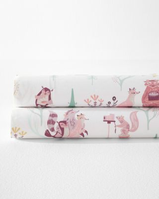 Woodland Party Organic-Cotton Percale Sheets