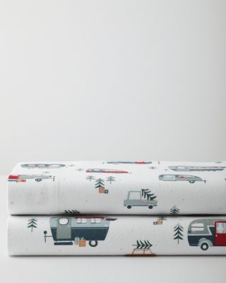 Happy Camper Cotton Flannel Sheets