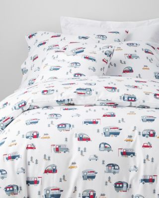 Happy Camper Flannel Duvet Cover