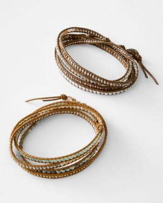 Chan Luu Stone and Metal Wrap Bracelet