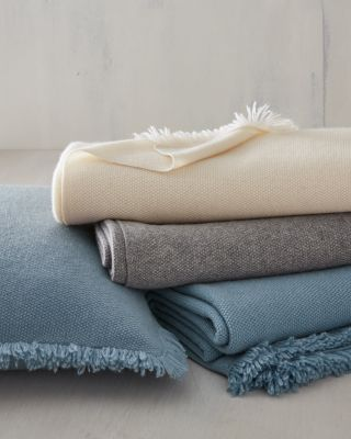 EILEEN FISHER Fringe Cashmere Pillow Cover