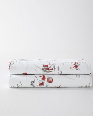 Adventurous Gnomes Organic-Cotton Percale Duvet Cover