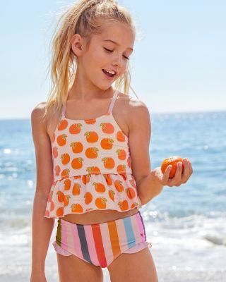 Girls' Ruffle Tankini Swimsuit by Pink Chicken