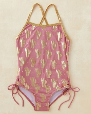 Girls' Cross-Back One-Piece Swimsuit by Masala Baby