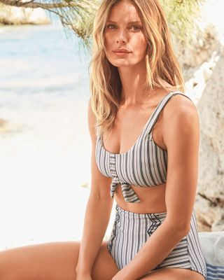 Seafolly Sea-Stripe Retro Bikini Swimsuit