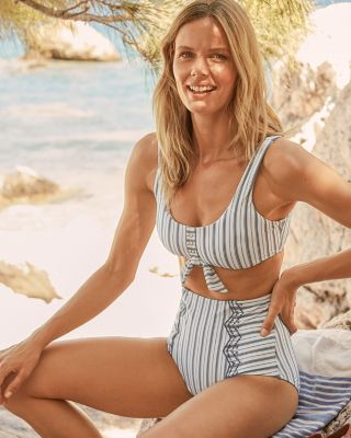 Seafolly Sea-Stripe Retro Bikini Bottom