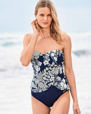 Vince Camuto Surf Shades Draped Tankini Swimsuit