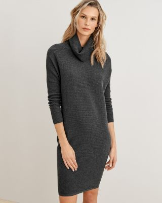 Turtleneck Cocoon Sweater Dress