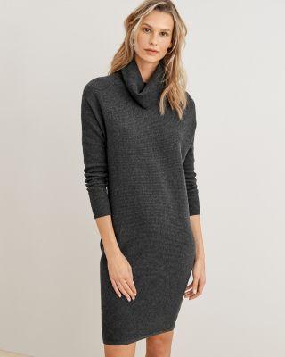 Turtleneck Cocoon Sweater Dress