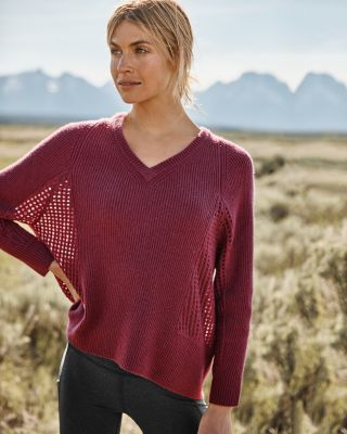 Mesh Rib-Knit Cashmere Sweater