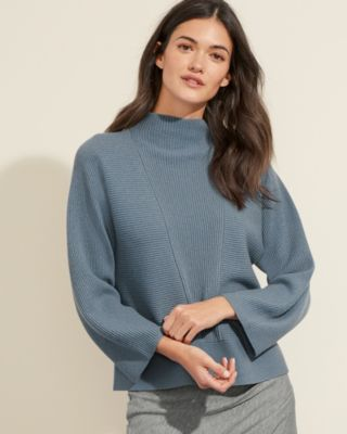 Mock-Neck Cashmere Sweater