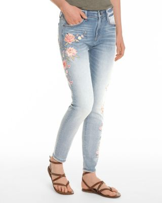 Driftwood Jardin Embroidered Skinny Jeans