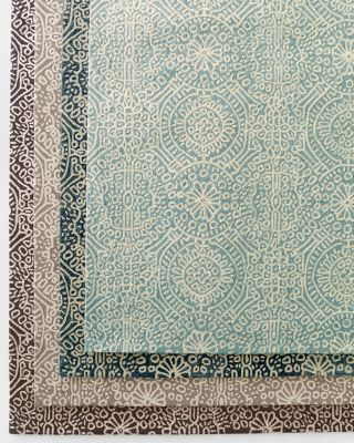 Temple Geo Microhooked Wool Rug