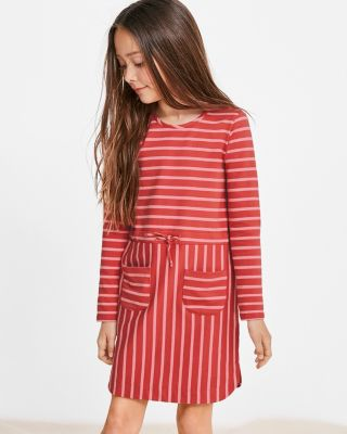 Girls' Organic Cotton Pocket Sweatshirt Dress