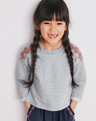 Girls' Organic Cotton French Terry Top