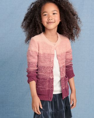 Girls' Ombre Cardigan Sweater