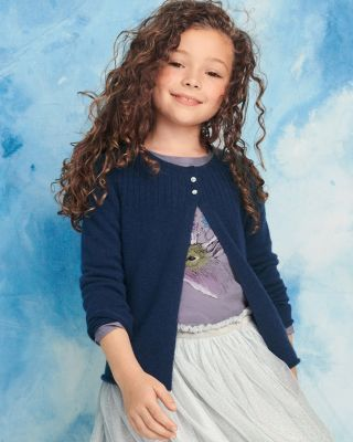 Girls' Flyaway Washable Cashmere Cardigan Sweater