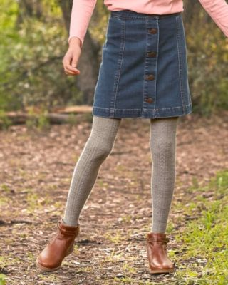 Girls' Retro Denim Skirt